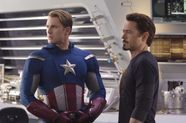 chris-evans-robert-downey-jr  Avengers photo