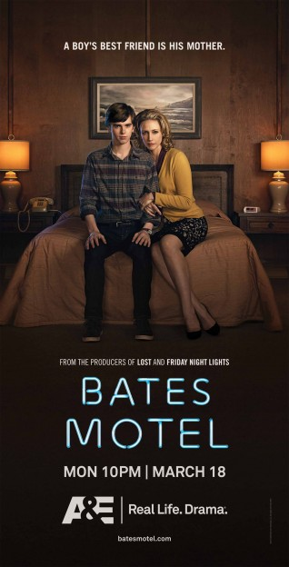 Bates Motel teaser poster on bed