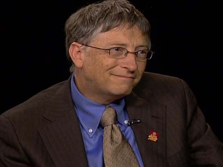 screenshot video interview between Bill Gates and Charles Rose