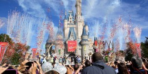 Disney Cinderella castle Fantasyland celebration photo