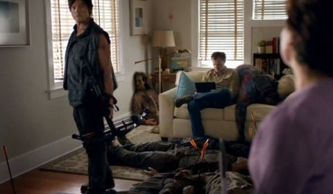 Norman Reedus stars as Daryl Dixon in Time Warner's 'Walking Dead' Super Bowl Ad