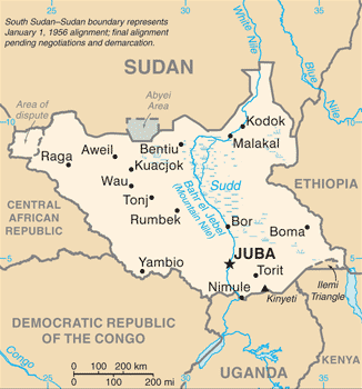 South Sudan Image/CIA