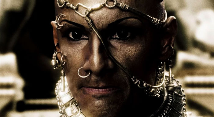 Xerxes close up Rodrigo Santoro in 300