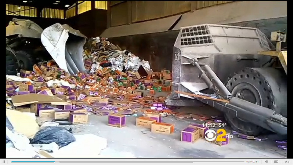 thousands of unsold unopened girl scout cookies destroyed