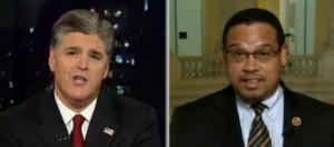 Sean Hannity and Keith Ellison spar on Hannity  Image/Video Screen Shot