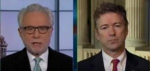 Rand Paul  and Wolf Blitzer on CNNs The Situation Room Image/Video Screen Shot