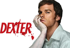 Dexter promo banner with hand