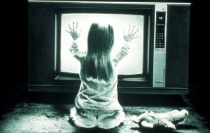 Heather O Rourke Poltergeist photo TV set