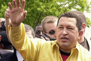 Hugo Chávez in Porto Alegre, Brazil. Jan/26/2003  photo Victor Soares