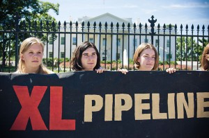 Keystone XL demonstration, White House,8-23-2011  photo Josh Lopez