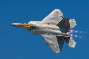 F-22 are now being placed on the Korean border by the US to deter the North from attacking.  photo by Rob Shenk