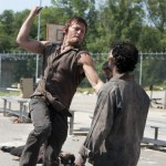 Norman Reedus Walking Dead killing zombie