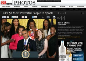 Obama Sports Illustrated Top 50 powerful people