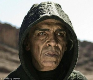 "Is President Obam the precursor to the anti-Christ?  photo screenshot from TV series ""The BIble"""