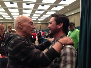 Patrick Stewart Wil Wheaton convention photo tweeted by Anne Wheaton