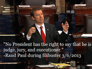 Rand Paul filibuster No President has the right