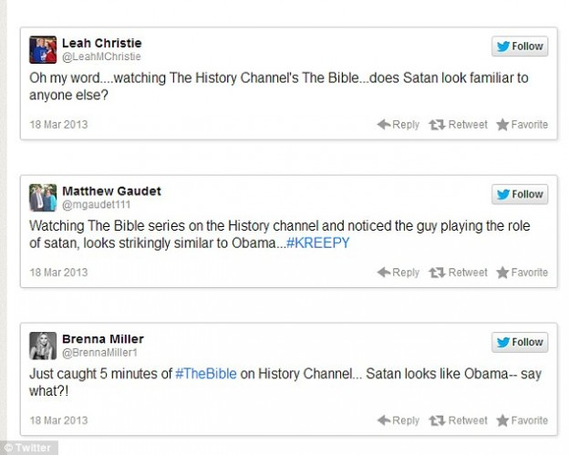 Twitter Obama The Bible Satan tweets