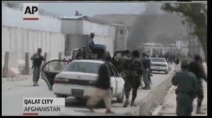 Screenshot of video coverage of blast in Afghanistan killing 5 Americans