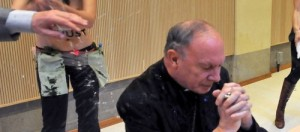 Belgian Archbishop Andre-Joseph Leonard  under attack from FEMEN