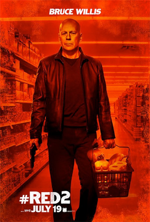 Bruce Willis Red 2 character poster