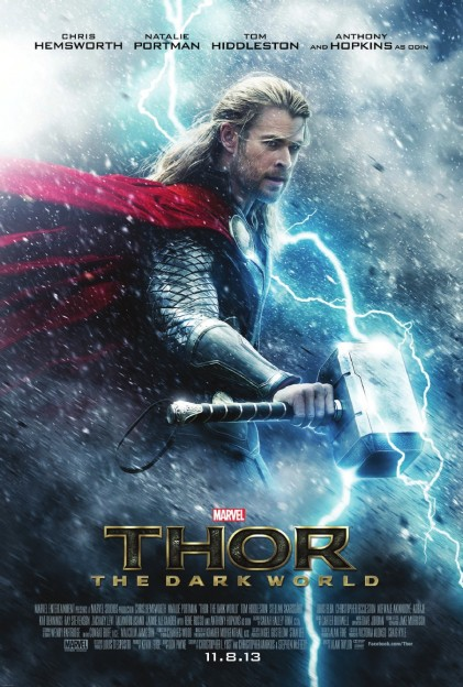 Chris Hemsworth Thor Dark World poster