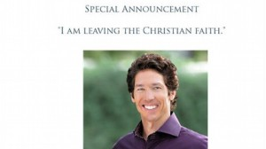 Joel Osteen no longer believes in the Bible? No, the Pastor fell victim to an elaborate Internet hoax
