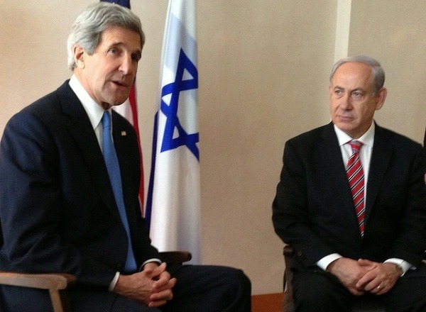 State Dept photo John Kerry and Benjamin Netanyahu, April 2013