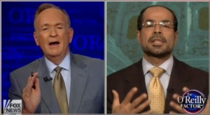 Bill O'Reilly and Nihad Awad of CAIR battle over Islam, terrorism and the Boston bombing photo screenshot Fox video