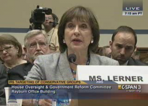 Lois Lerner testifying before Congress