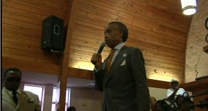 Rev Al Sharpton speaking Kendrick Johnson support rally