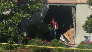 The hole remains at the Dillard's in Clearwater, Florida when a man crashed his car into the building as part of a failed suicide attempt photo WFLA video coverage