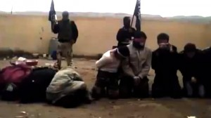 Screenshot Syrian rebels executing prisoners