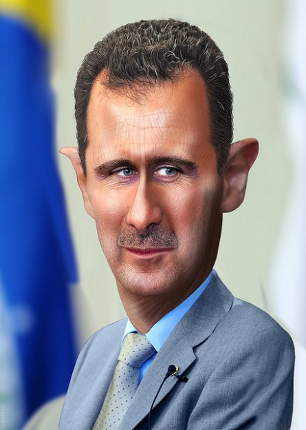 Syria's Bashar al-Assad  photo donkeyhotey donkeyhotey.wordpress.com