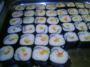 Sushi public domain image/Luke via wikimedia commons