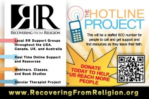 atheist hotline project recovering from religion