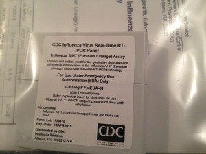 A packaged CDC reagent kit for detecting H7N9 virus Image/CDC