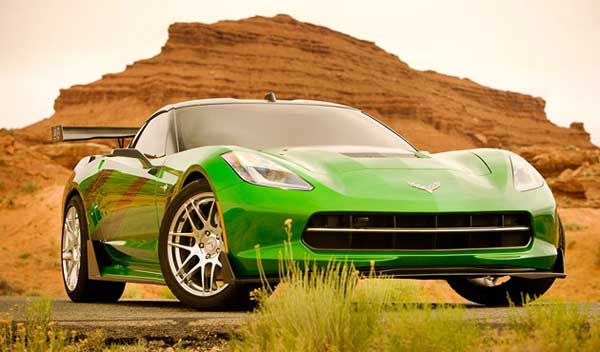 transformers-4-new-cars green corvette
