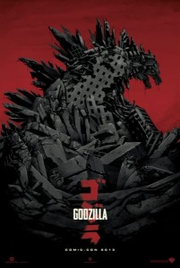godzilla reboot movie _poster SDCC 2013