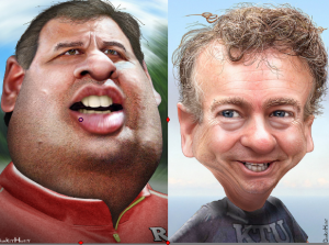 Chris Christie and Rand Paul donkeyhotey