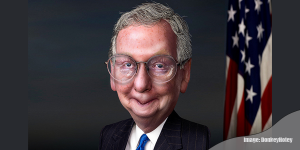 """Mitch McConnell to GOP: """"Don't be scary"""" photo/ donkeyhotey"""