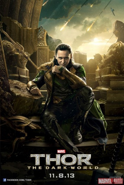 Tom Hiddleston Loki Thor dark World poster