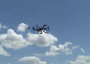 Octocopter for aerial drone  photography Image/Video Screen Shot