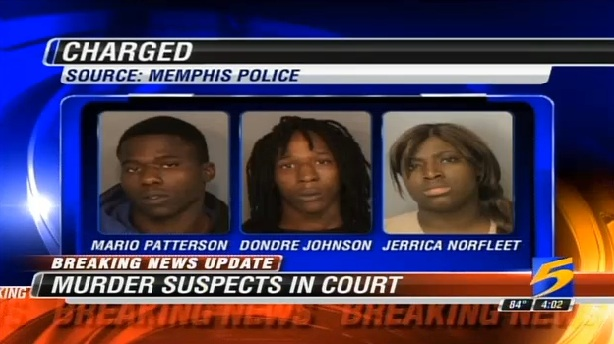 three-suspects Mario Patterson Dondre Johnson Jerrica Norfleet
