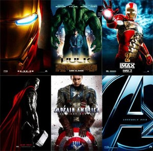 Marvel movies phase one posters