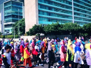 'Colorful Hijab Fun Walk' was past of Muslimah World  photo from Facebook