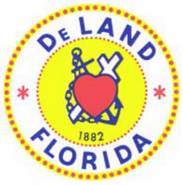 city-of-deland seal with cross heart and anchor