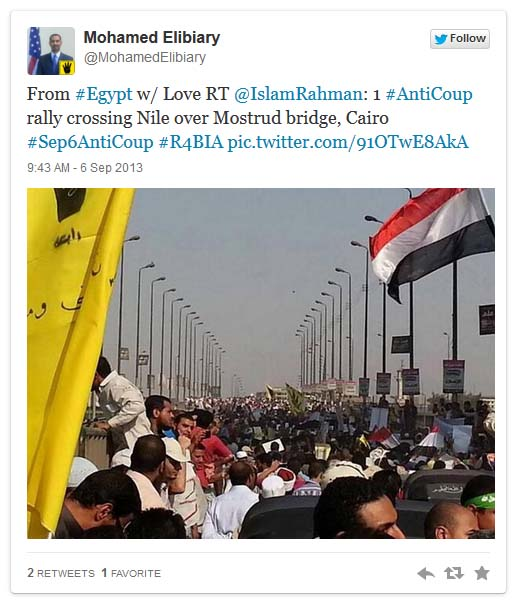 elibiary #R4BIA tweet photo on Egypt