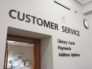 Customer Service at Portland Oregon library