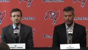 DICON Co-Director Dr. Deverick J. Anderson and Bucs GM Mark Dominik Image/Video Screen Shot