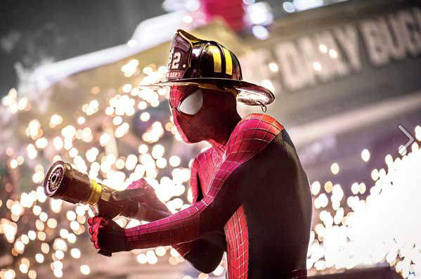 Spider-man Fireman gear Amazing Spider-Man 2